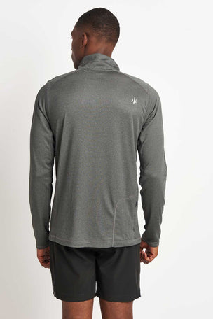 Rhone Sequoia 2.0 Zip-Up Pullover - Grey image 2 - The Sports Edit