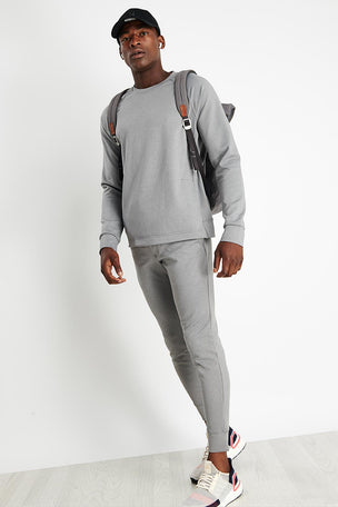 Rhone Spar Crewneck - Light Heather Grey image 4 - The Sports Edit