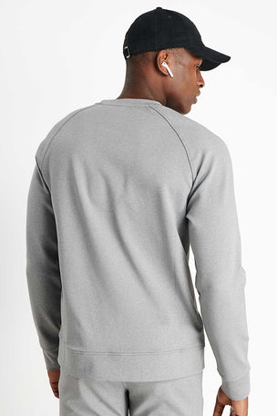 Rhone Spar Crewneck - Light Heather Grey image 2 - The Sports Edit