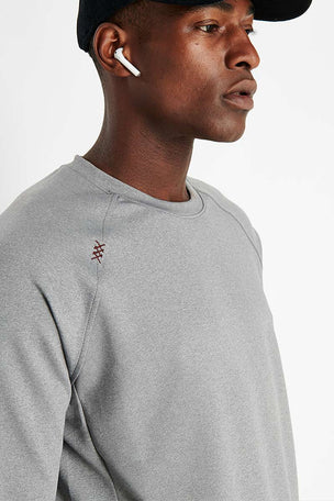 Rhone Spar Crewneck - Light Heather Grey image 3 - The Sports Edit