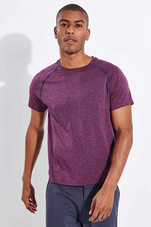 Rhone Versatility Seamless Short Sleeve - Dry Rose Heather image 1 - The Sports Edit
