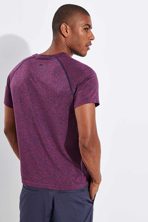 Rhone Versatility Seamless Short Sleeve - Dry Rose Heather image 3 - The Sports Edit