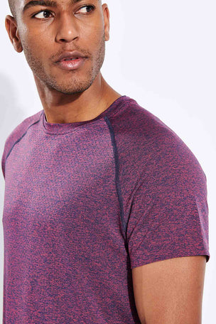 Rhone Versatility Seamless Short Sleeve - Dry Rose Heather image 4 - The Sports Edit
