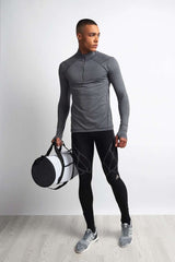 SALT Pulse Tech Training Top Charcoal Marl image 5 - The Sports Edit