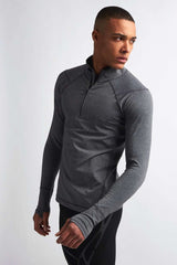 SALT Pulse Tech Training Top Charcoal Marl image 1 - The Sports Edit