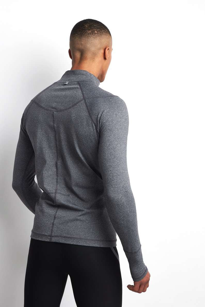 SALT Pulse Tech Training Top Charcoal Marl image 4 - The Sports Edit