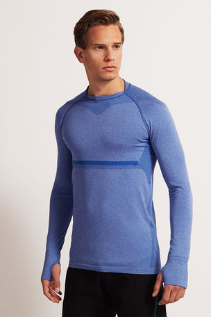 SALT Limitless Long Sleeve Tee Dazzling Blue image 1 - The Sports Edit