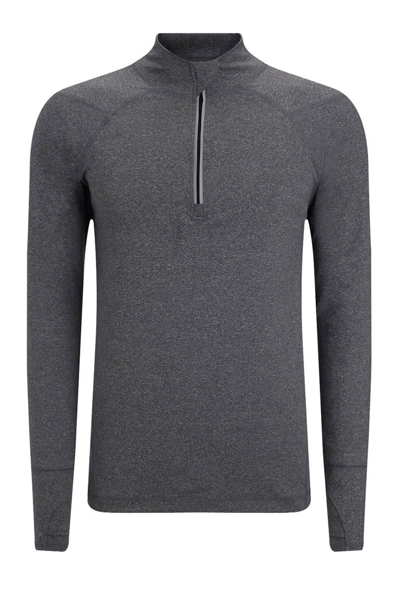 SALT Pulse Tech Training Top Charcoal Marl image 6 - The Sports Edit