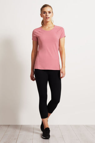 SALT Ultimate Workout Tee Pink Blush image 4 - The Sports Edit