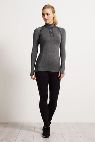 SALT Limitless Training Top Charcoal image 4 - The Sports Edit