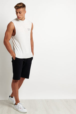 Spiritual Gangster Good Vibes Muscle Tank - Whisper White image 4 - The Sports Edit