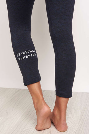 Spiritual Gangster SG Old English Power Crop Legging image 2 - The Sports Edit