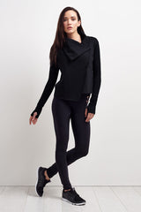 Alala Sophisticate Draped Jacket - Black image 5