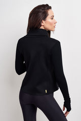 Alala Sophisticate Draped Jacket - Black image 3