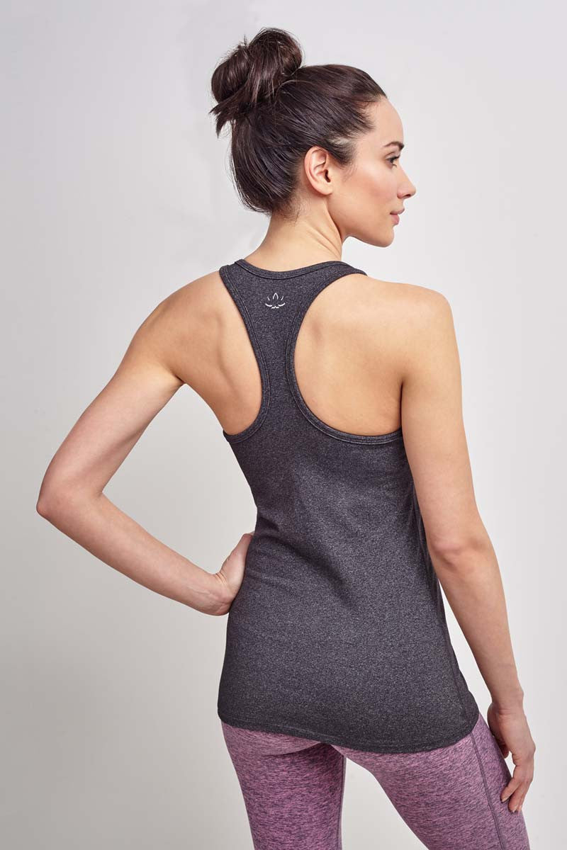 Beyond Yoga Classic Racerback Heather Grey image 2 - The Sports Edit
