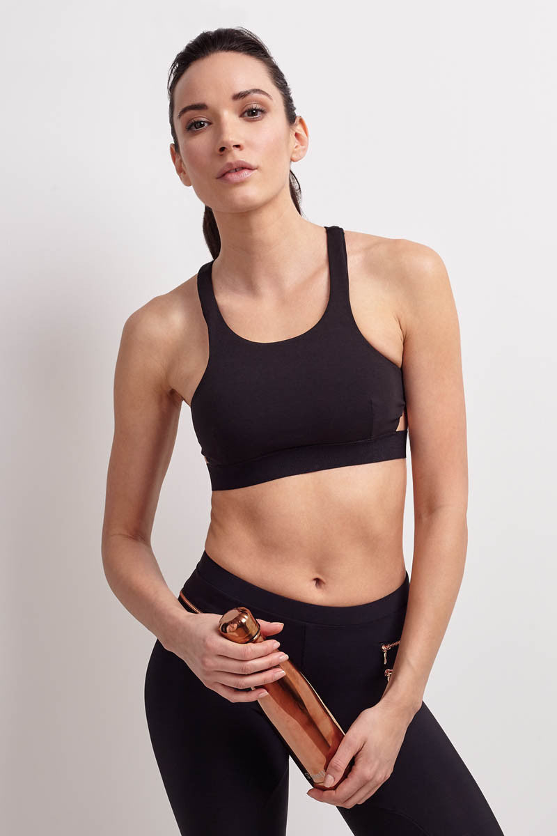 Blue Life Fit Zip It Sports Bra Black image 1 - The Sports Edit