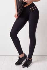 Blue Life Fit Zip it Moto Leggings image 1 - The Sports Edit