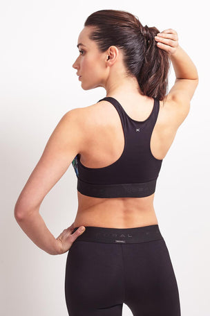 Koral Orbit Sports Bra PolyChrome / Black image 2 - The Sports Edit