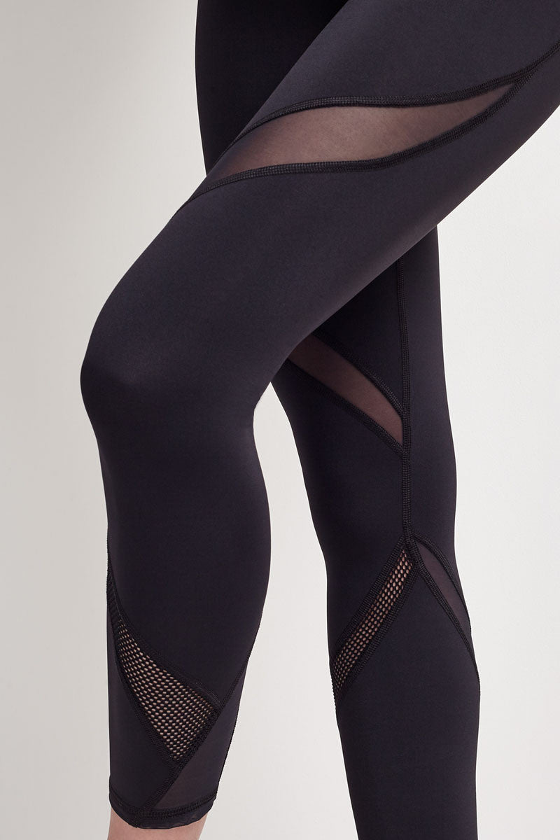 Michi Hydra Crop Legging - Black image 4