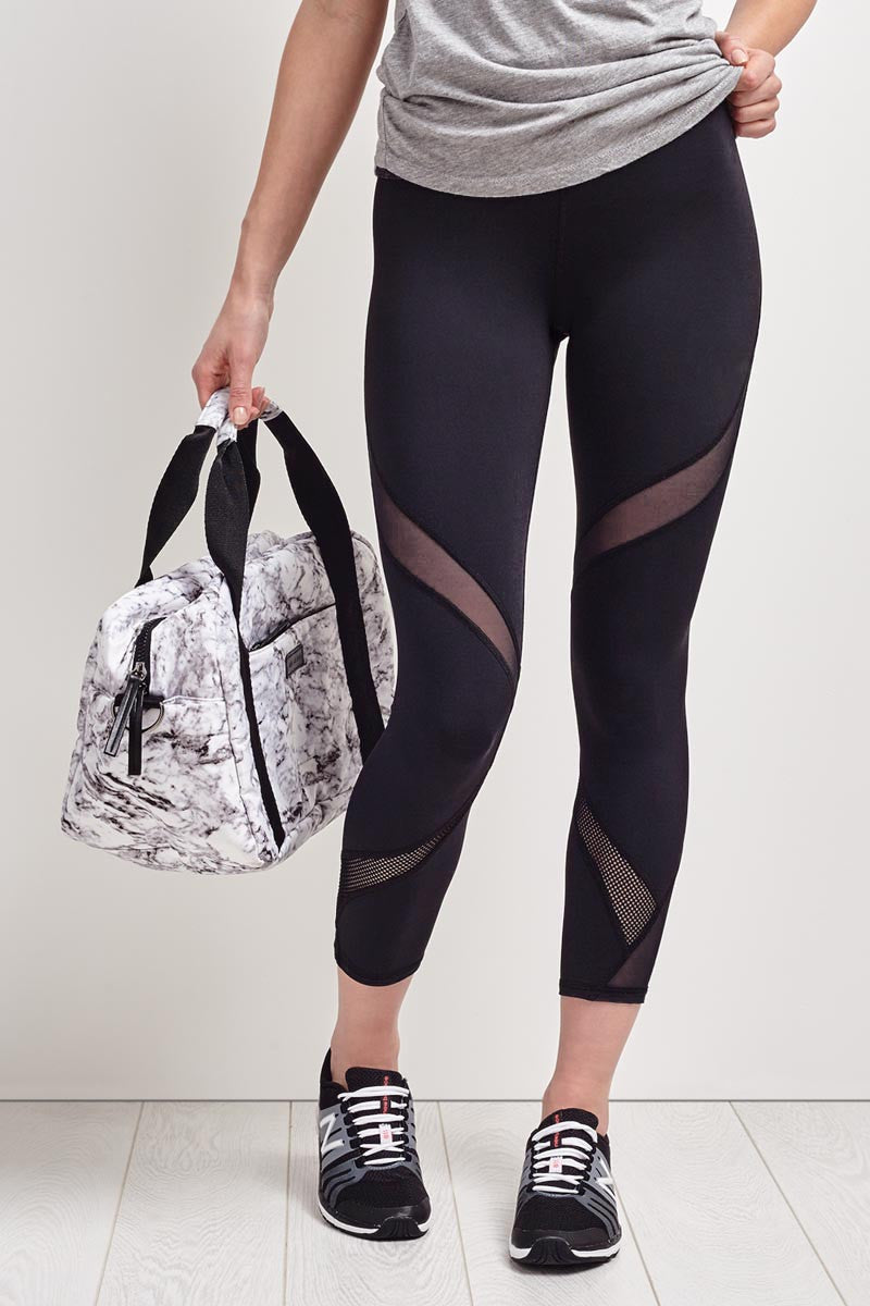 Michi Hydra Crop Legging - Black image 2