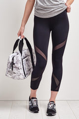 Michi Hydra Crop Legging - Black image 2 - The Sports Edit