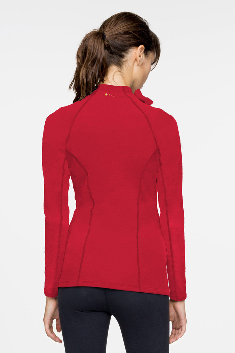 Beyond Yoga x Kate Spade New York Neck Bow Jacket Posy Red image 3