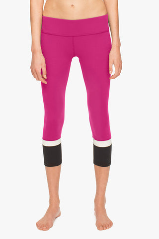 Beyond Yoga x Kate Spade New York Banded Capri Legging Cream/Black image 1 - The Sports Edit