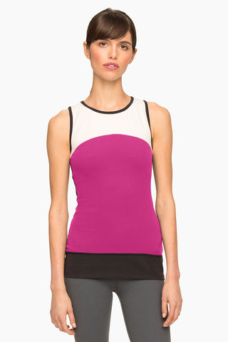 Beyond Yoga x Kate Spade New York Banded Tank Cream/Black image 1 - The Sports Edit