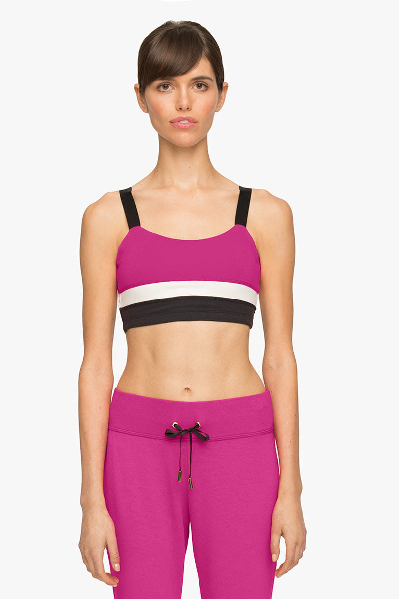 Beyond Yoga x Kate Spade New York Banded Bra Deep Carnation image 1 - The Sports Edit