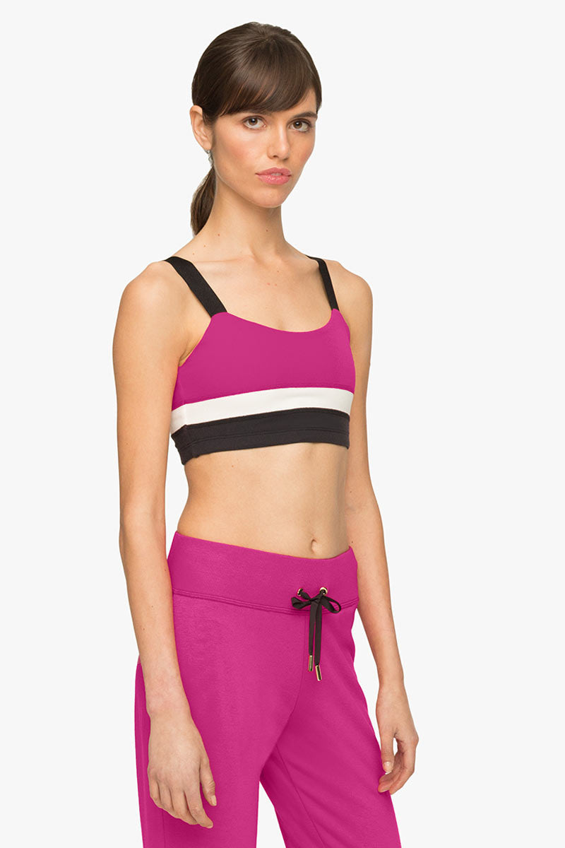 Beyond Yoga x Kate Spade New York Banded Bra Deep Carnation image 3