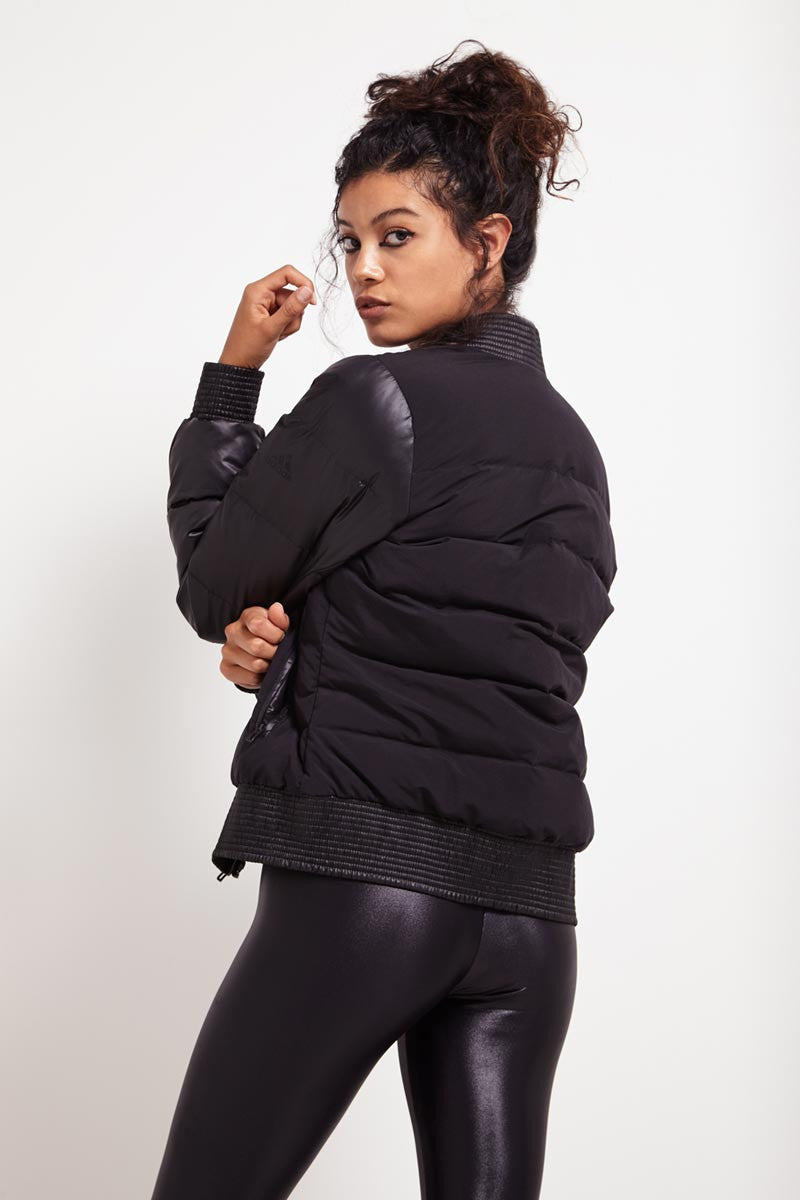 ADIDAS Cozy Down Bomber Black image 3 - The Sports Edit
