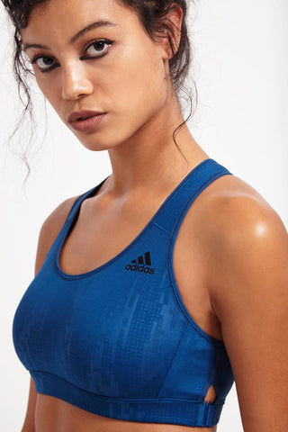 ADIDAS Racer-back Printed Bra image 1 - The Sports Edit