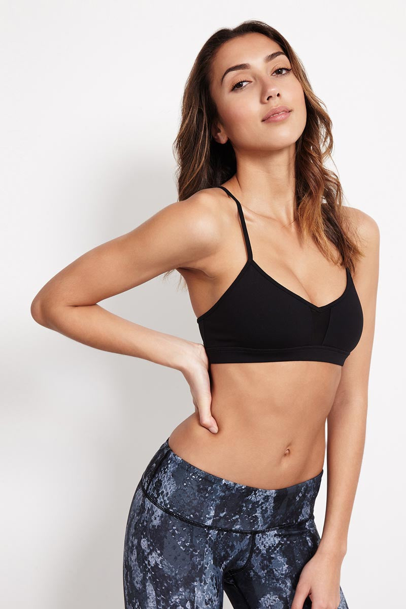 Alo Yoga Goddess Bra - Black image 1 - The Sports Edit