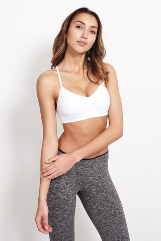 Alo Yoga Sunny Strappy Bra White Glossy image 1 - The Sports Edit