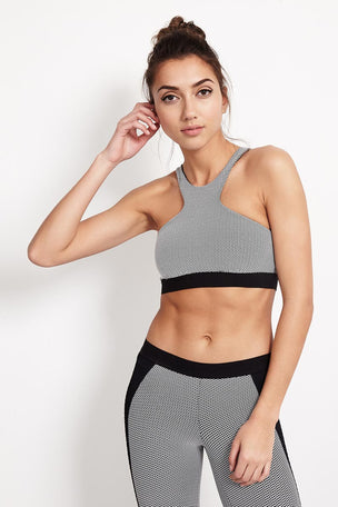 Blue Life Fit Jacquard Sportsbra - Black image 1 - The Sports Edit