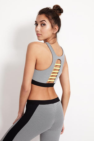Blue Life Fit Jacquard Sportsbra - Black image 2 - The Sports Edit
