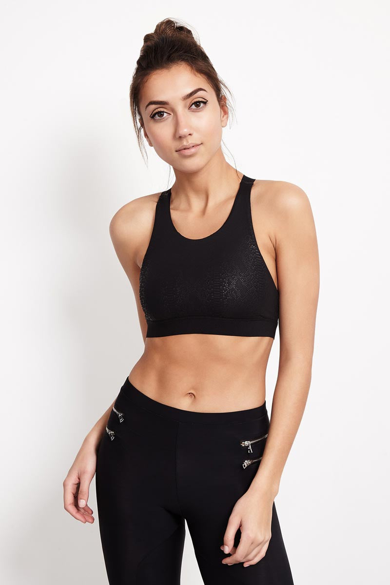 Blue Life Fit Scoop Sportsbra - Black Snake image 1 - The Sports Edit