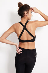 Blue Life Fit Scoop Sportsbra - Black Snake image 2 - The Sports Edit