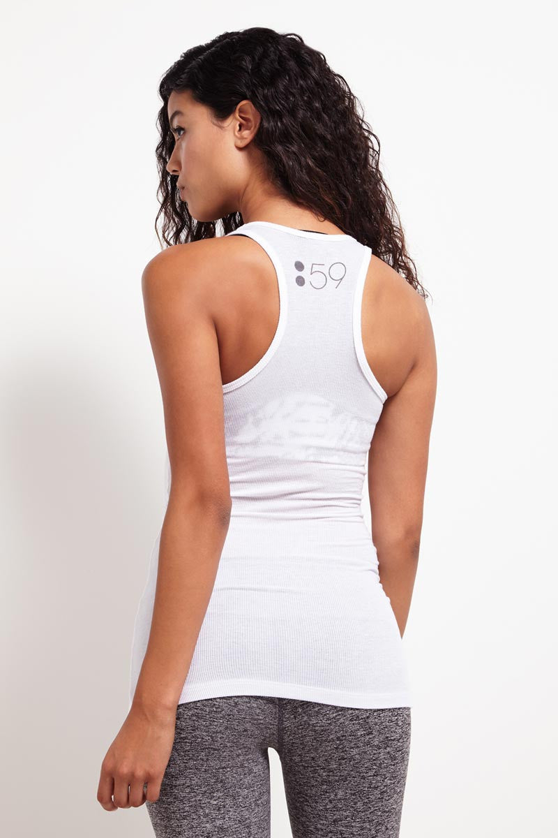 Splits59 Ashby Rib Racerback Tank White image 2 - The Sports Edit