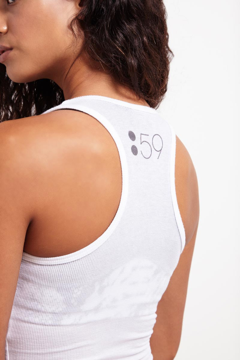 Splits59 Ashby Rib Racerback Tank White image 3 - The Sports Edit