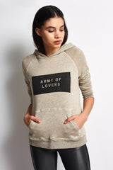 Sundry Army of Lovers Pullover Hoodie - Heather Oatmeal image 1 - The Sports Edit