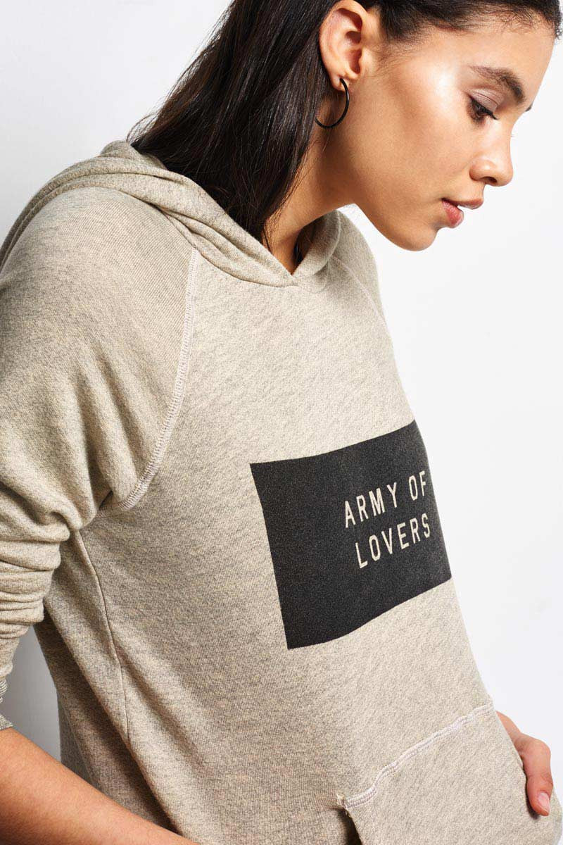 Sundry Army of Lovers Pullover Hoodie - Heather Oatmeal image 3 - The Sports Edit