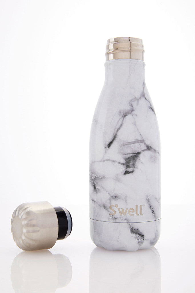 S Well Bottle White Marble 260ml The Sports Edit