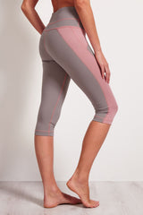 SALT Arc Yoga Capri Zinc image 2 - The Sports Edit