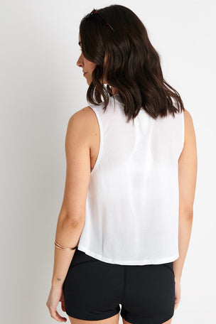 Spiritual Gangster SG Active Crop Tank - White image 3 - The Sports Edit