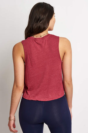 Spiritual Gangster Shine Like Diamonds Crop Tank - Garnet image 4 - The Sports Edit