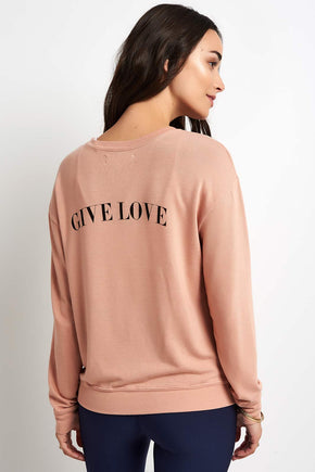 defd080f416 Spiritual Gangster Give Love Savasana Pullover image 1 - The Sports Edit