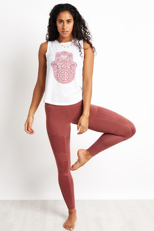 Spiritual Gangster Hamsa Active Muscle Tank - White image 4 - The Sports Edit