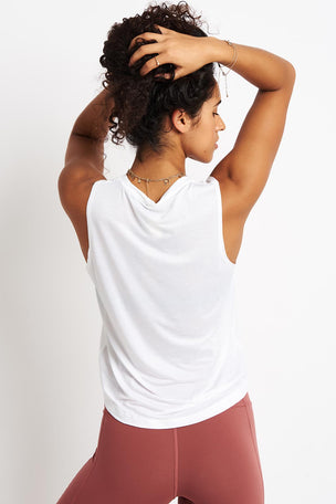 Spiritual Gangster Hamsa Active Muscle Tank - White image 2 - The Sports Edit