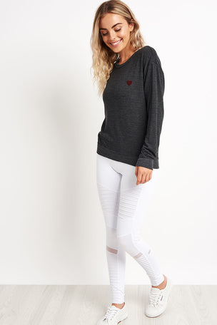 Spiritual Gangster Love Always Wins Savasana Sweatshirt - Vintage Black image 3 - The Sports Edit